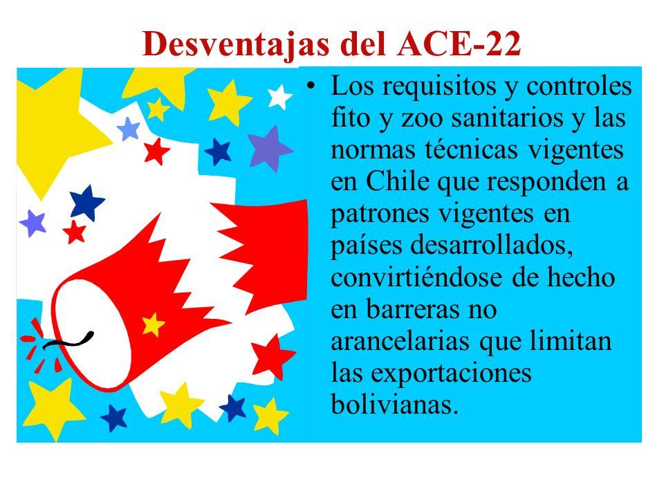 Desventajas del ACE-22