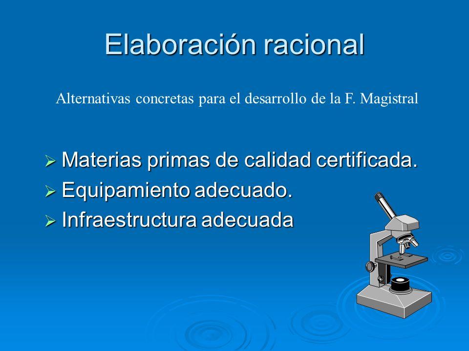 Elaboración racional Materias primas de calidad certificada.