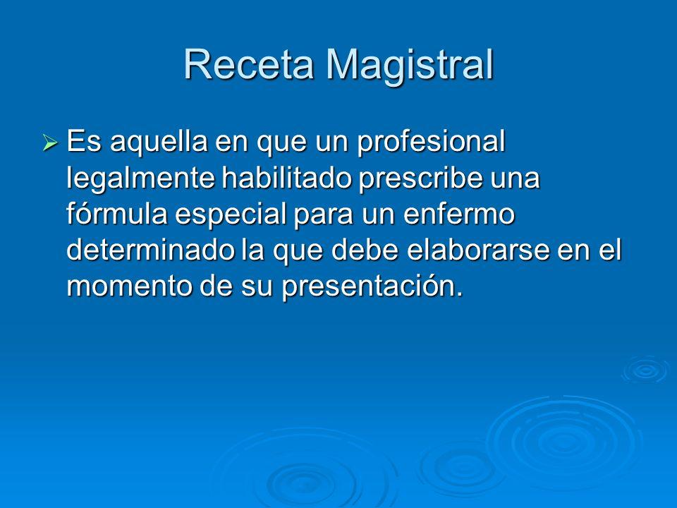 Receta Magistral