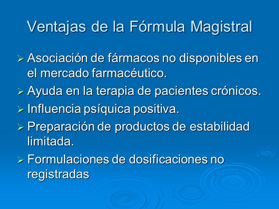 Ventajas de la Fórmula Magistral