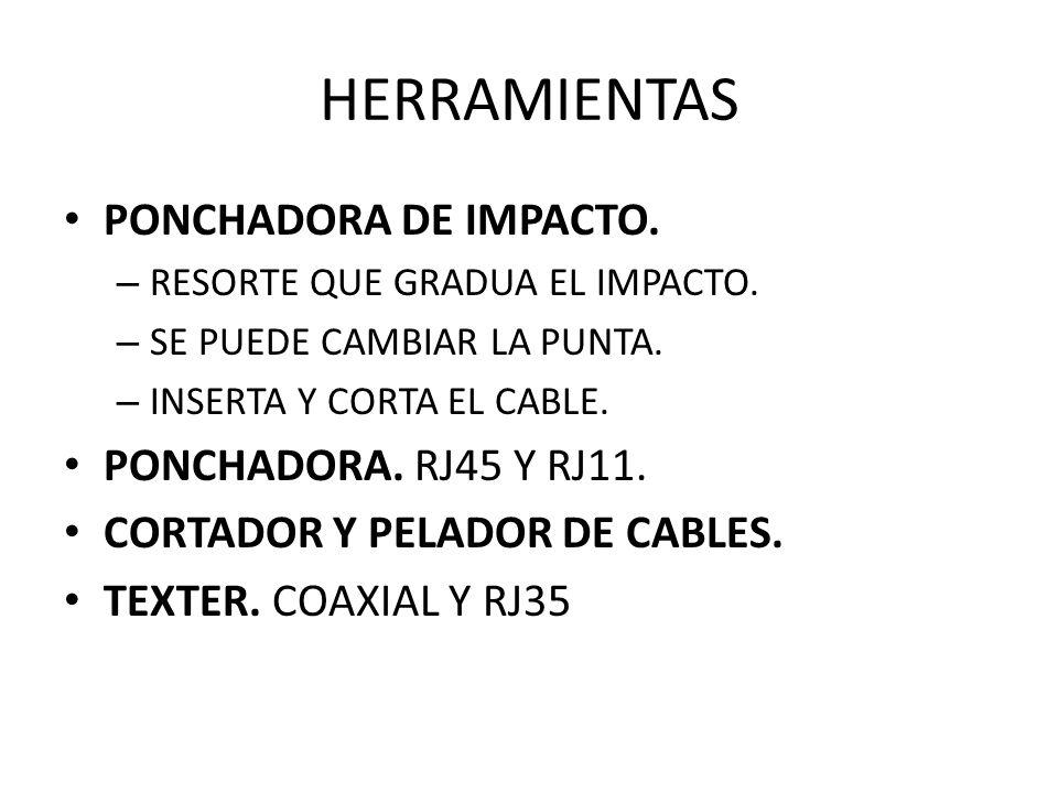 HERRAMIENTAS PONCHADORA DE IMPACTO. PONCHADORA. RJ45 Y RJ11.