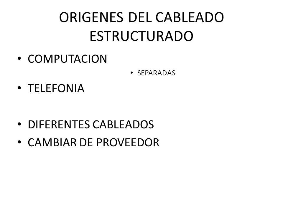 ORIGENES DEL CABLEADO ESTRUCTURADO
