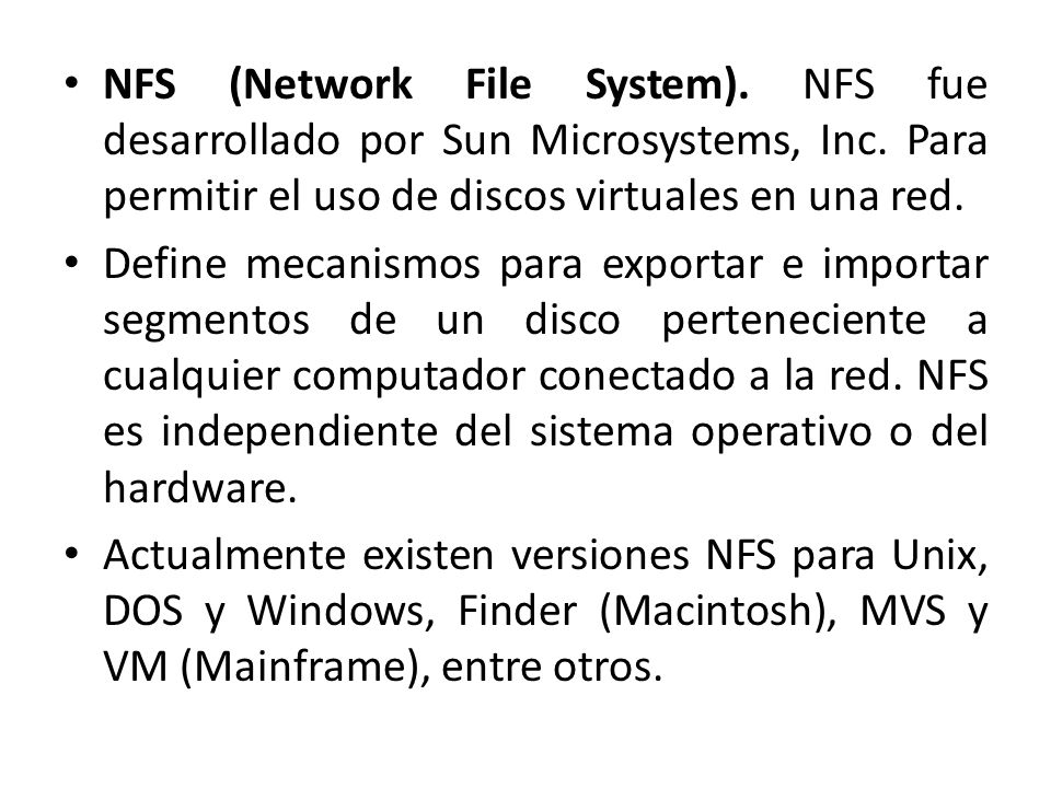 NFS (Network File System)