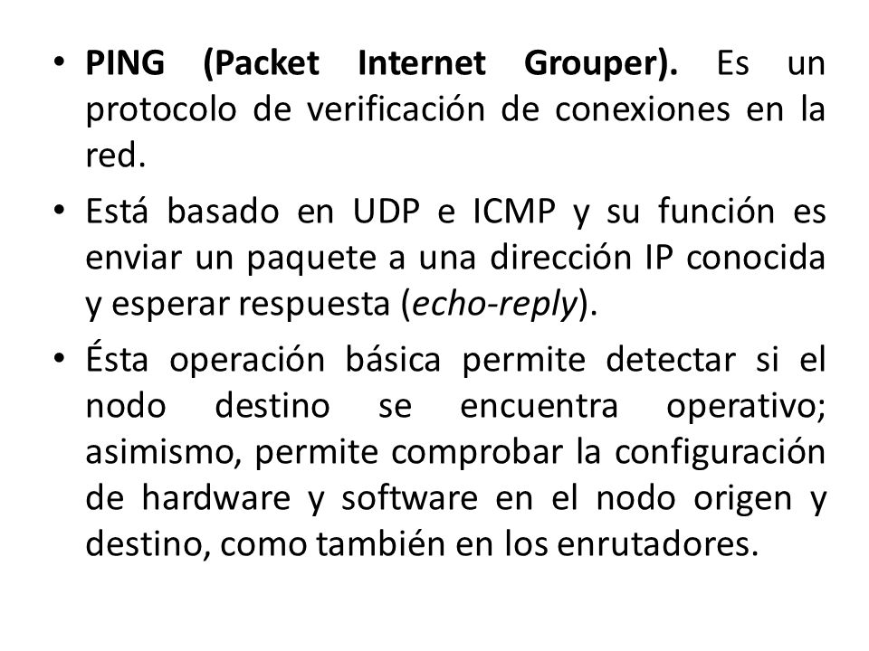 PING (Packet Internet Grouper)