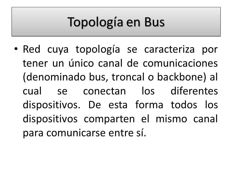 Topología en Bus