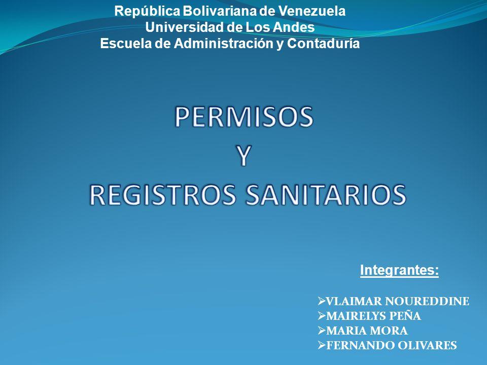 PERMISOS Y REGISTROS SANITARIOS