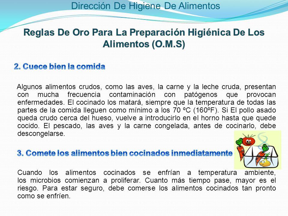 Reglas De Oro Para La Preparación Higiénica De Los Alimentos (O.M.S)