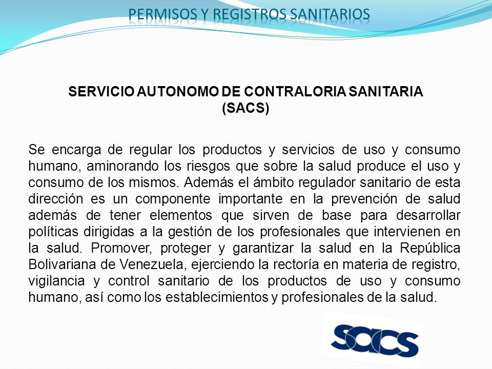 SERVICIO AUTONOMO DE CONTRALORIA SANITARIA