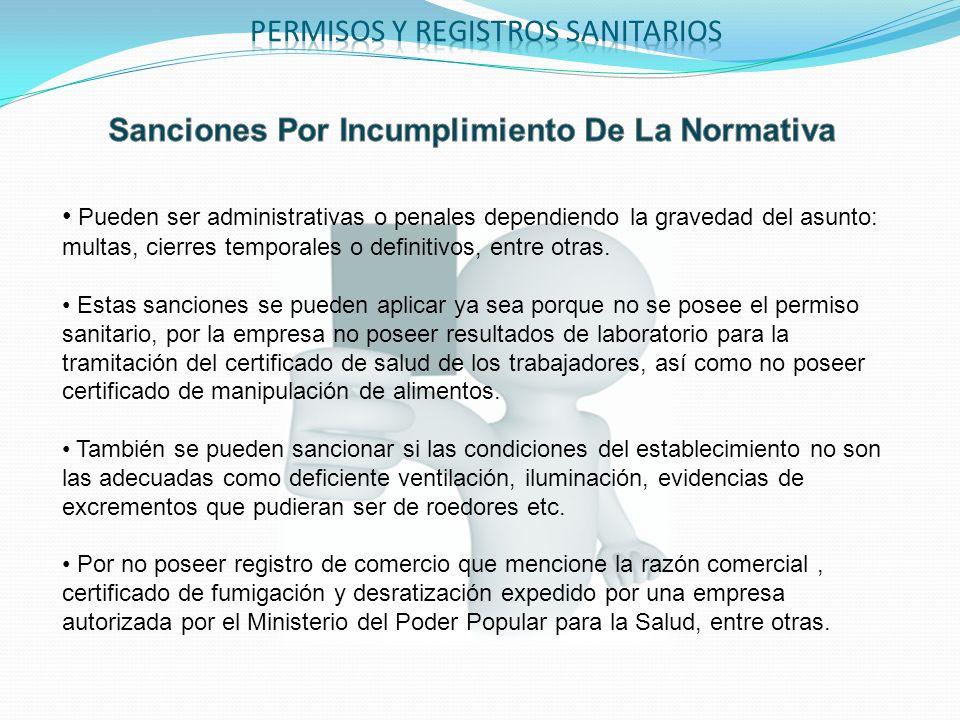 Sanciones Por Incumplimiento De La Normativa