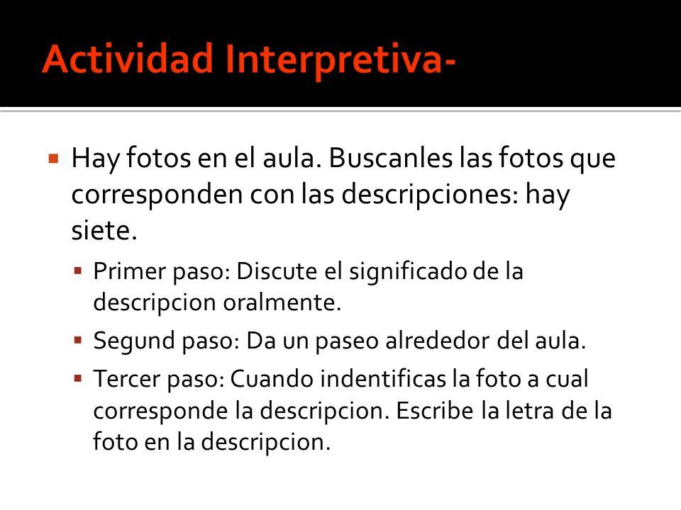 Actividad Interpretiva-