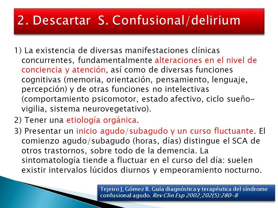 2. Descartar S. Confusional/delirium