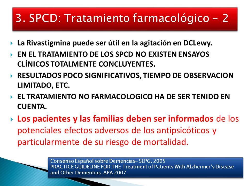 3. SPCD: Tratamiento farmacológico - 2
