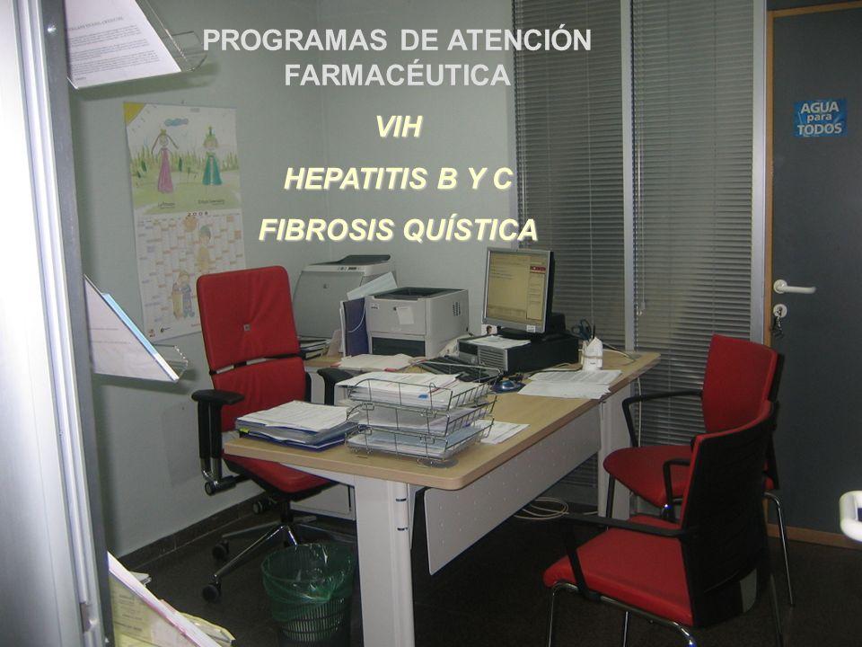 PROGRAMAS DE ATENCIÓN FARMACÉUTICA