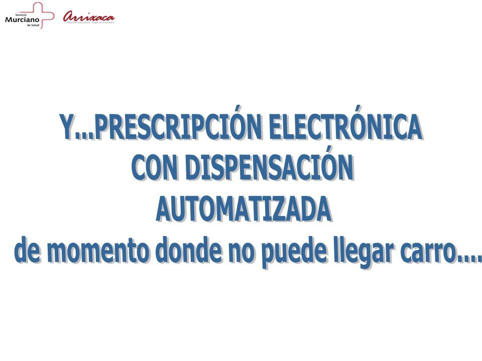 Y...PRESCRIPCIÓN ELECTRÓNICA CON DISPENSACIÓN AUTOMATIZADA
