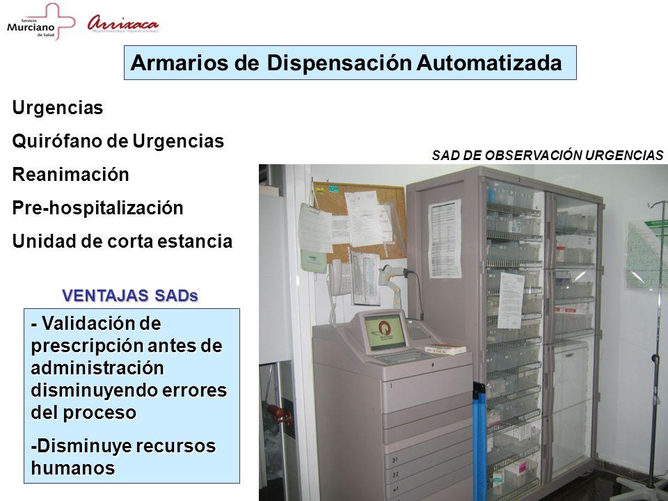 Armarios de Dispensación Automatizada