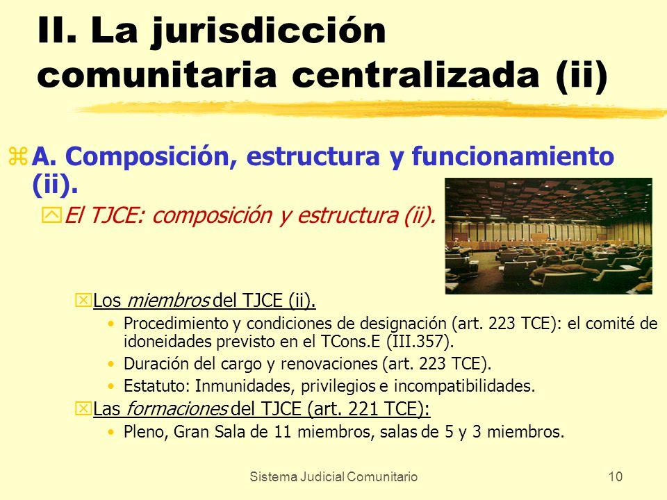 II. La jurisdicción comunitaria centralizada (ii)
