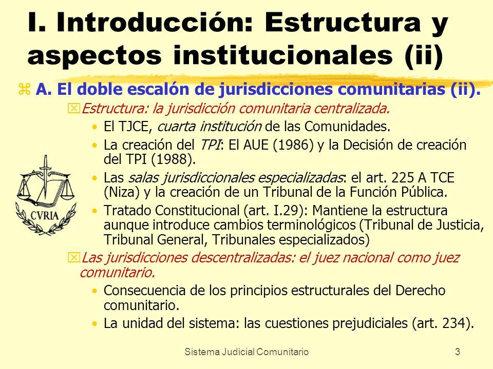 I. Introducción: Estructura y aspectos institucionales (ii)