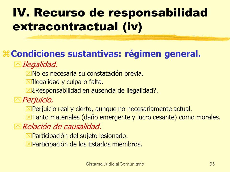IV. Recurso de responsabilidad extracontractual (iv)