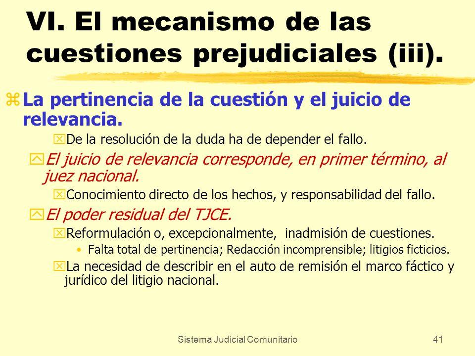 VI. El mecanismo de las cuestiones prejudiciales (iii).