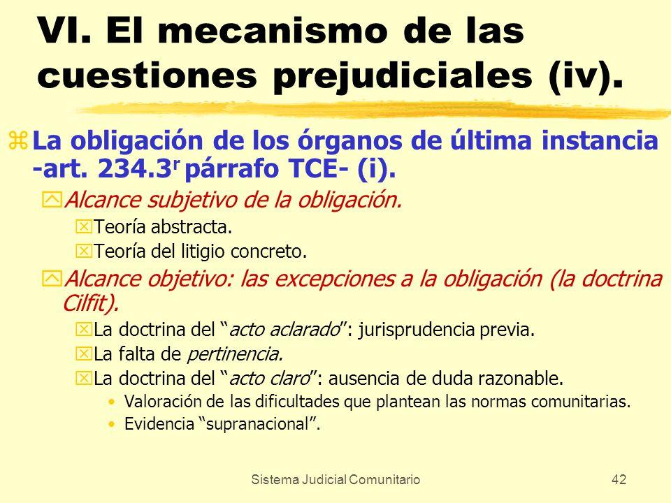 VI. El mecanismo de las cuestiones prejudiciales (iv).