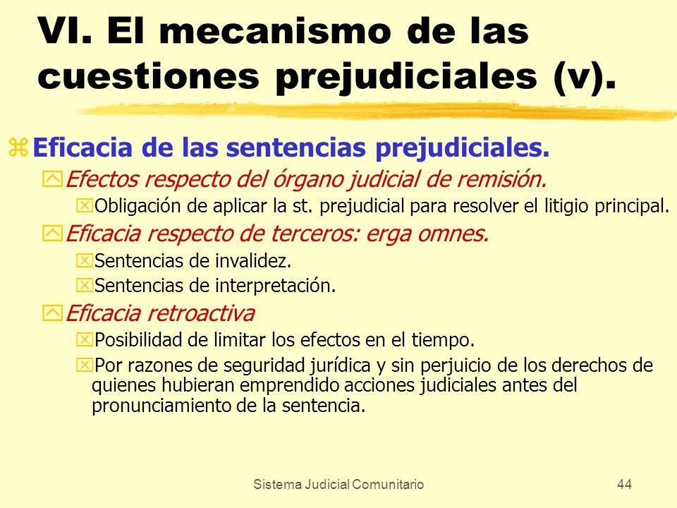 VI. El mecanismo de las cuestiones prejudiciales (v).
