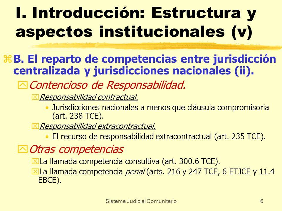 I. Introducción: Estructura y aspectos institucionales (v)