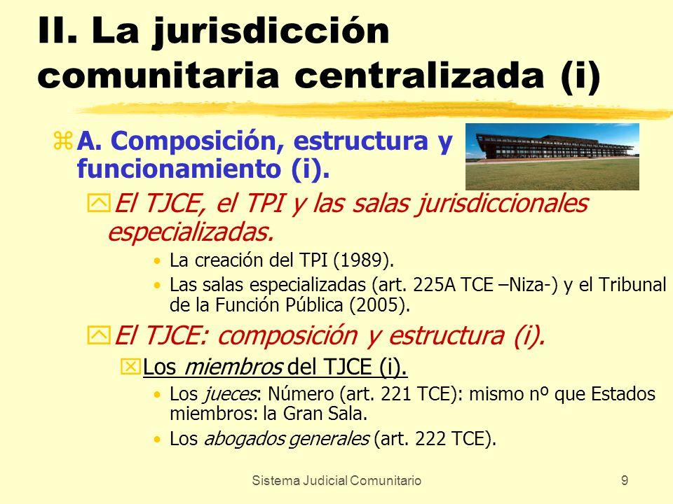 II. La jurisdicción comunitaria centralizada (i)