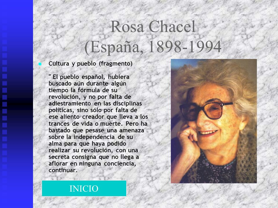 Rosa Chacel (España, 1898-1994 INICIO