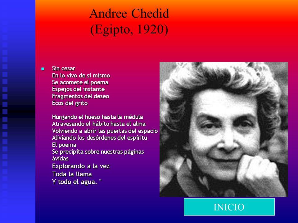 Andree Chedid (Egipto, 1920)