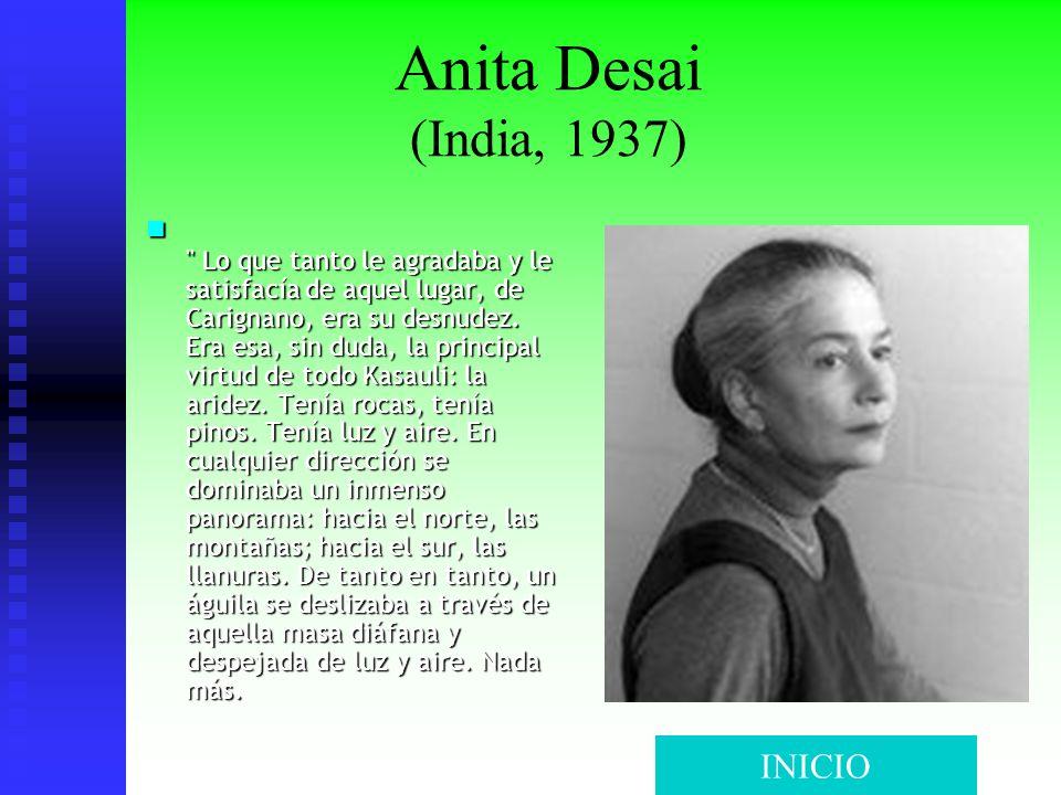 Anita Desai (India, 1937)