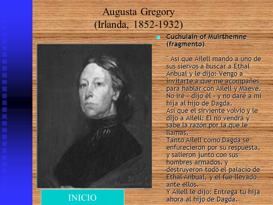 Augusta Gregory (Irlanda, 1852-1932)