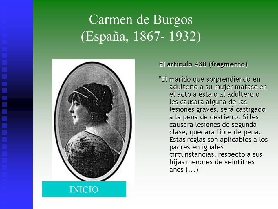 Carmen de Burgos (España, 1867- 1932)
