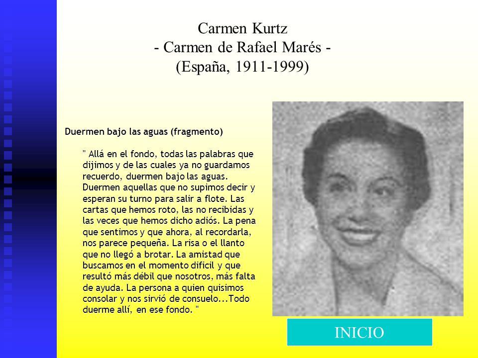 Carmen Kurtz - Carmen de Rafael Marés - (España, 1911-1999)