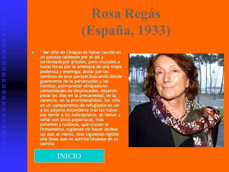 Rosa Regás (España, 1933) INICIO