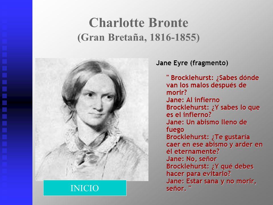 Charlotte Bronte (Gran Bretaña, 1816-1855)