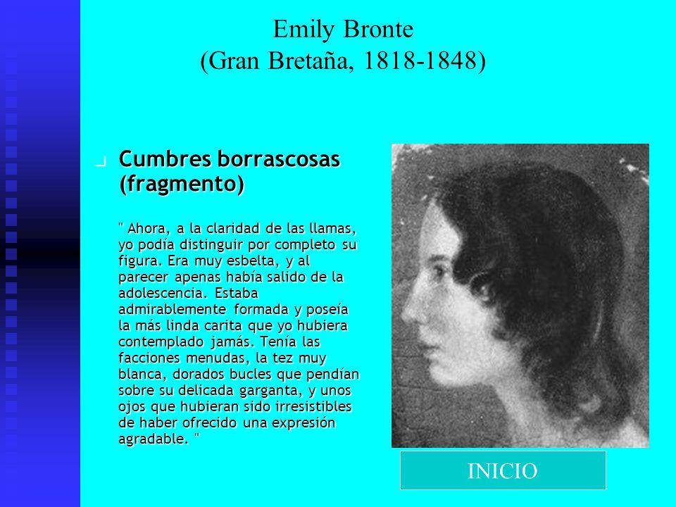 Emily Bronte (Gran Bretaña, 1818-1848)