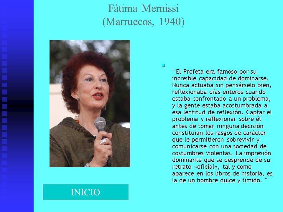 Fátima Mernissi (Marruecos, 1940)