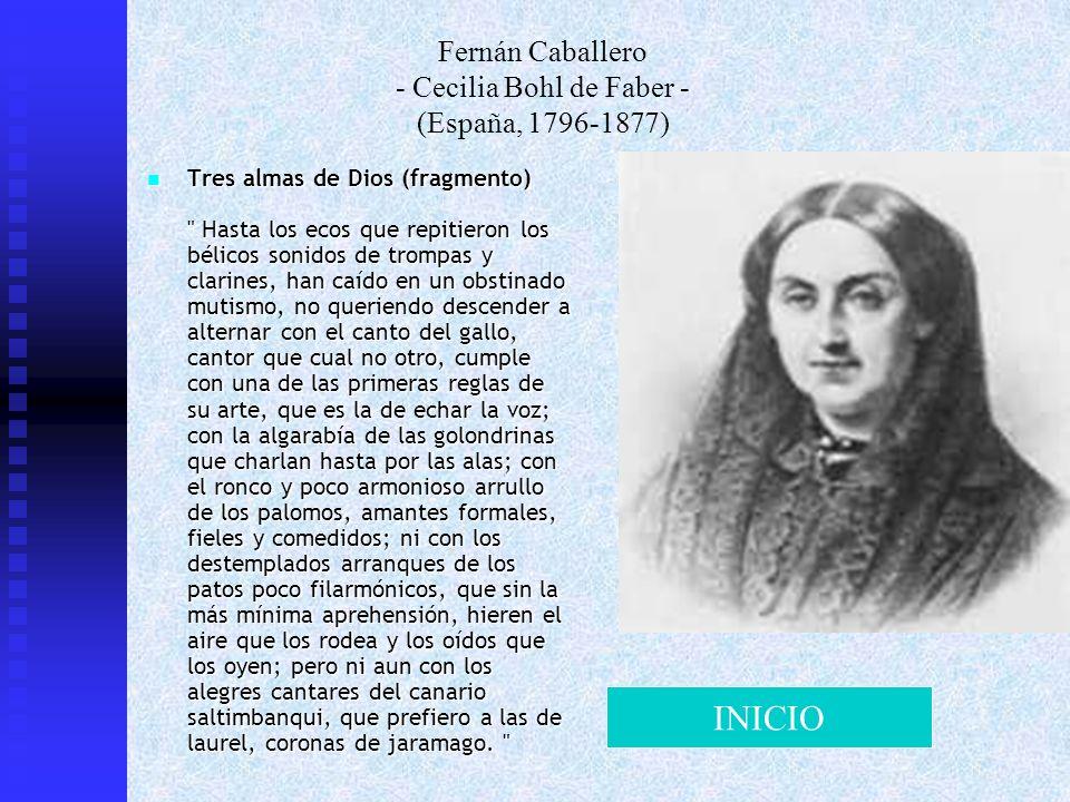 Fernán Caballero - Cecilia Bohl de Faber - (España, 1796-1877)