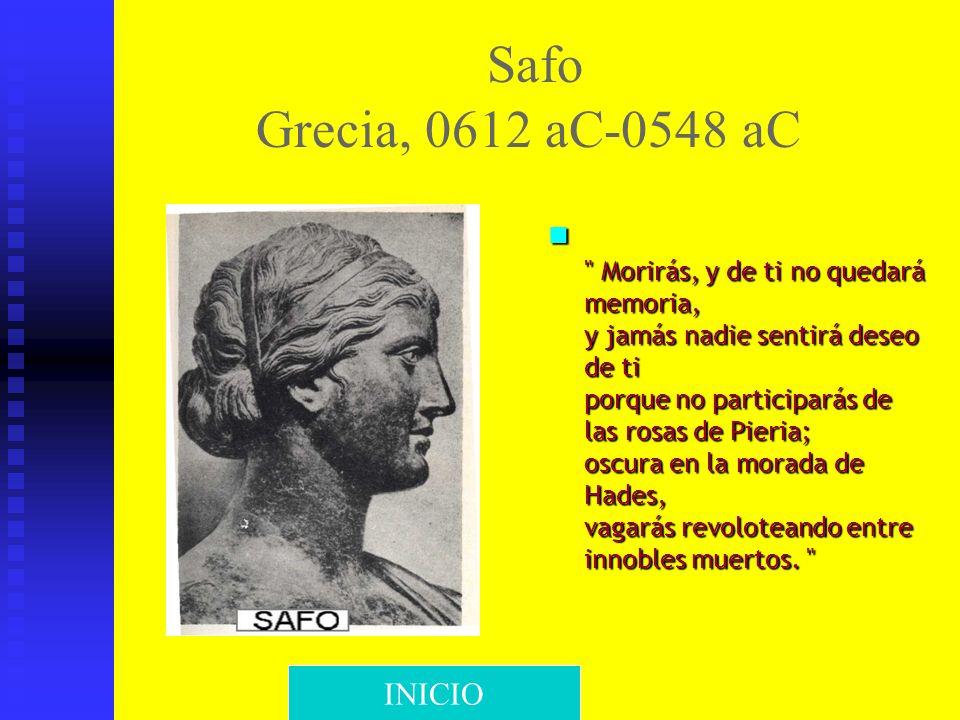 Safo Grecia, 0612 aC-0548 aC