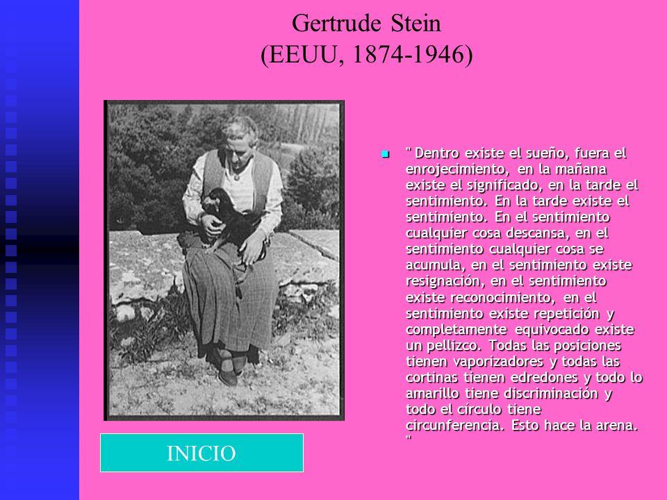 Gertrude Stein (EEUU, 1874-1946)