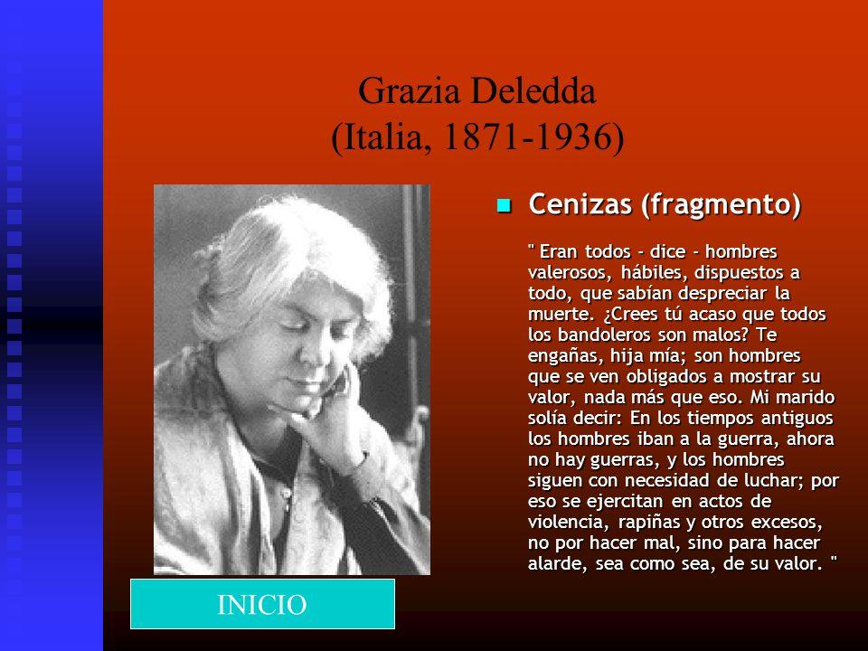 Grazia Deledda (Italia, 1871-1936)