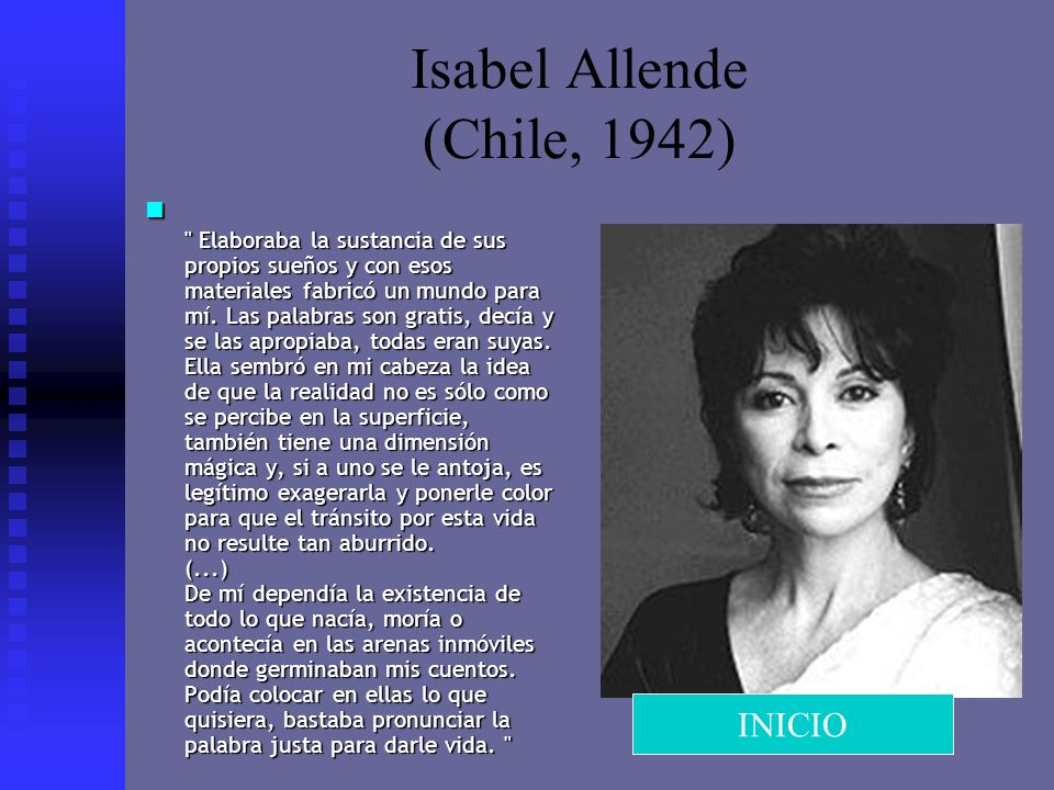 Isabel Allende (Chile, 1942)