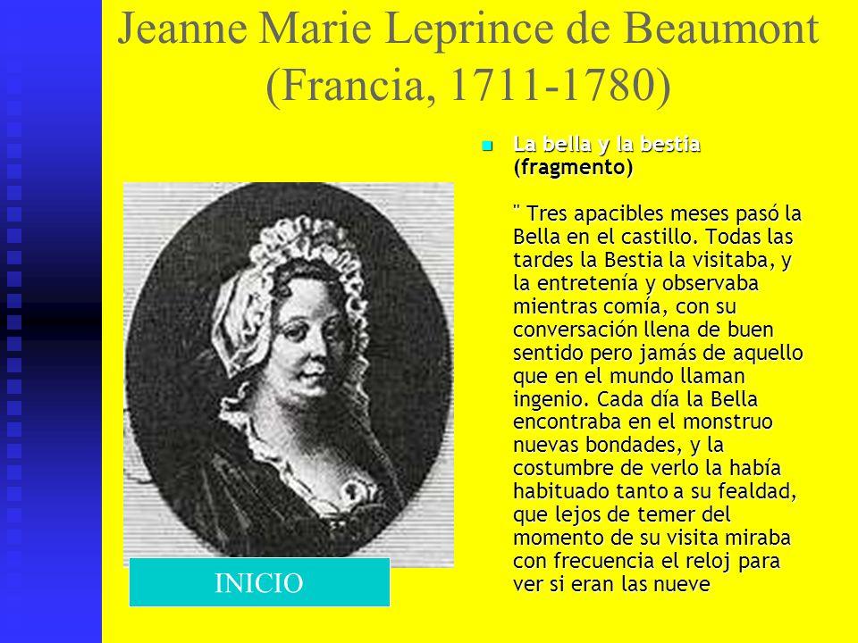 Jeanne Marie Leprince de Beaumont (Francia, 1711-1780)