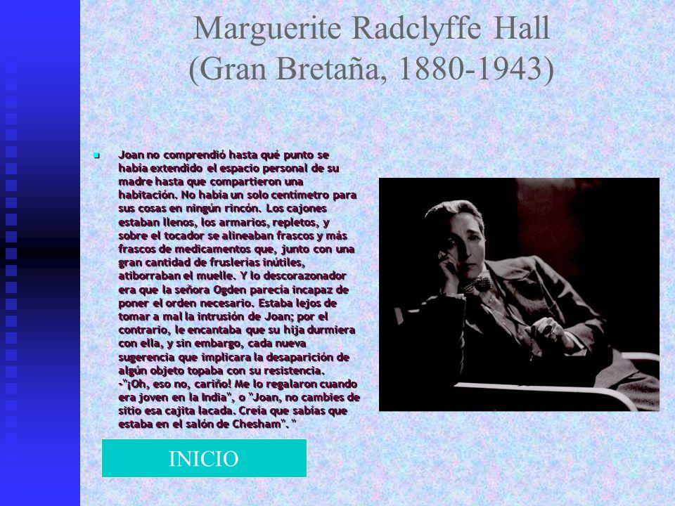 Marguerite Radclyffe Hall (Gran Bretaña, 1880-1943)