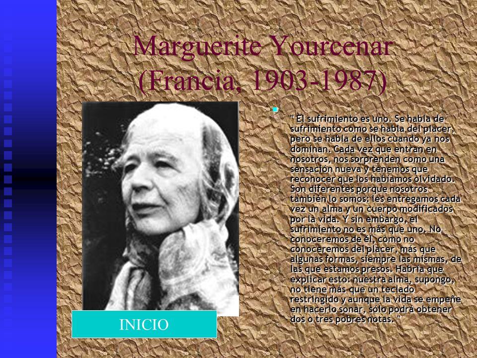 Marguerite Yourcenar (Francia, 1903-1987)