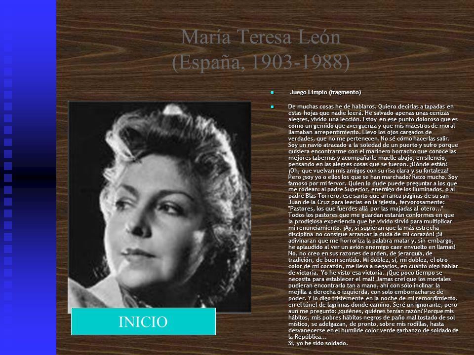 María Teresa León (España, 1903-1988)