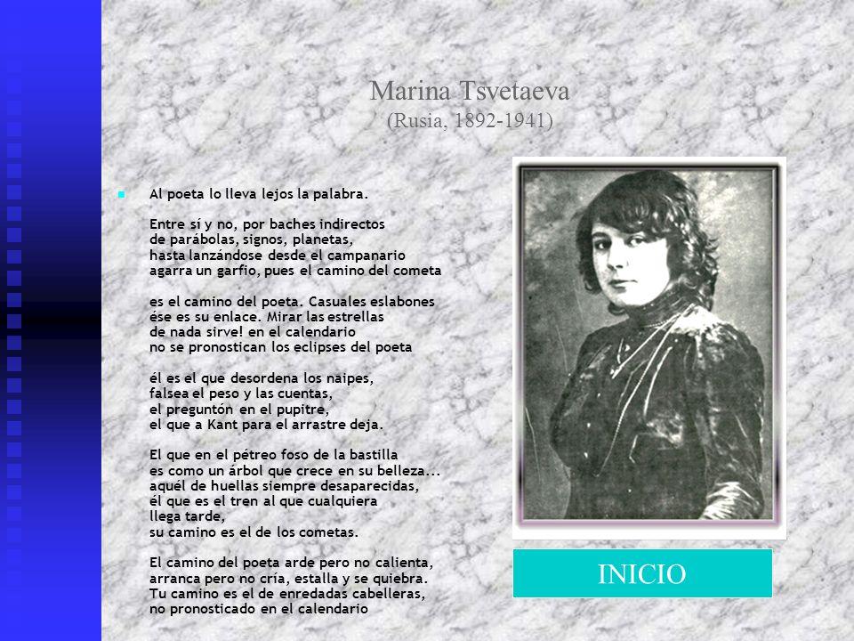 Marina Tsvetaeva (Rusia, 1892-1941)