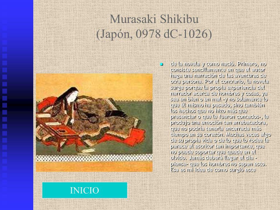 Murasaki Shikibu (Japón, 0978 dC-1026)