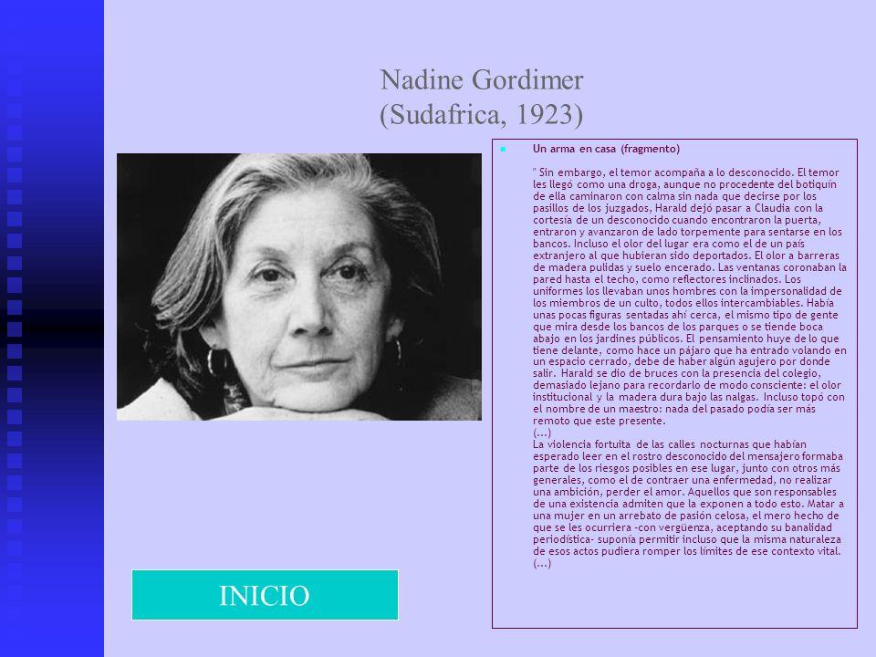 Nadine Gordimer (Sudafrica, 1923)