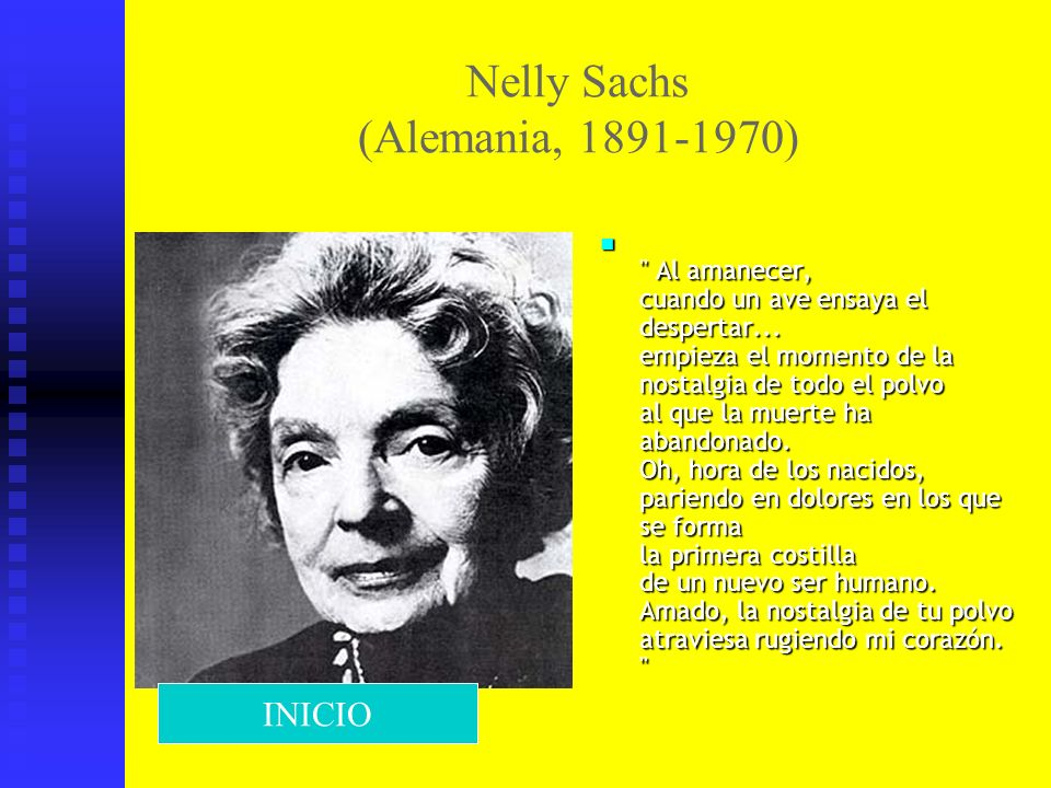 Nelly Sachs (Alemania, 1891-1970)
